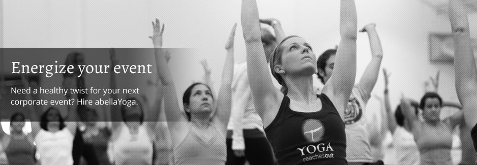 Ccorporate Event Yoga: Energize your event-Need a healthy twist for your next corporate event? Hire abellayoga