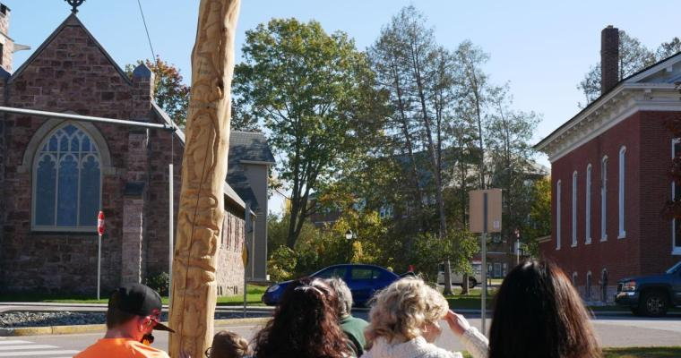 Totem pole celebration 2020