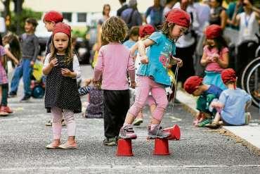 Kinder-Raddemo zur Gudvanger