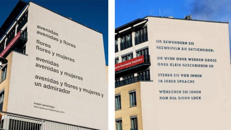 Gomringer-Gedicht an Hochschul-Fassade wird übermalt