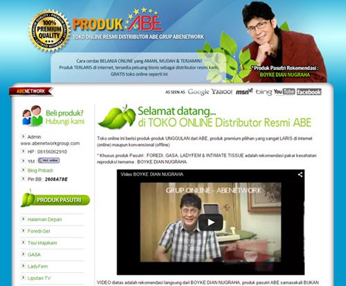 Toko Online Produk ABE - Abenetwork Group
