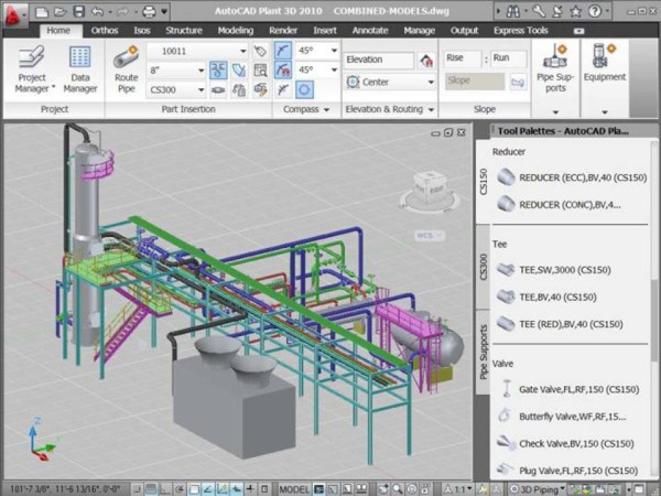 AutoCAD_Plant_3D_2010_Workspace_Screenshot