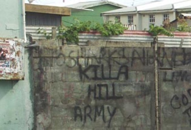 Killa Hill Army, sign of the idle times in the Silver Hill/Gall Hill area.
