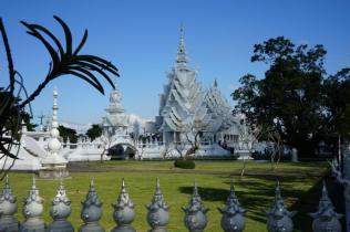 Mekong Laos Flusskreuzfahrt, Weißer Tempel, Chiang Rai