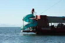 Partyboot mit Rutsche