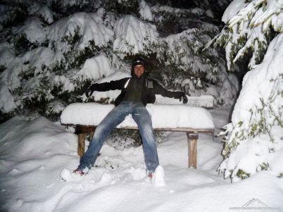 Und mit jedem Schritt bergauf wurde der Schnee höher :)