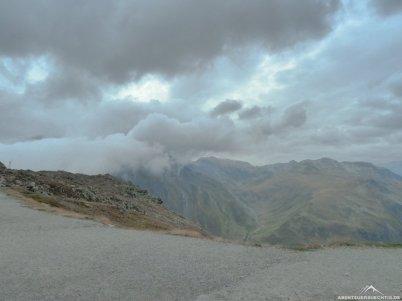 Es zog zu, oben auf dem Passo della Novena.