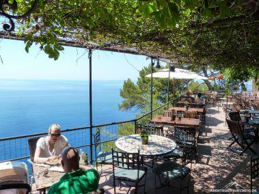 Die Terrasse des Café Nautilus