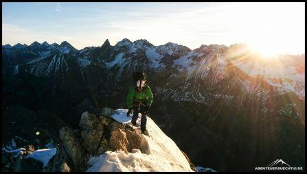 Robert auf dem Mindelheimer Klettersteig