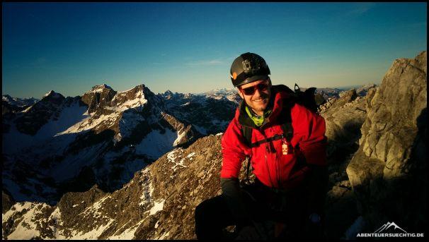 Unterwegs auf dem Mindelheimer Klettersteig