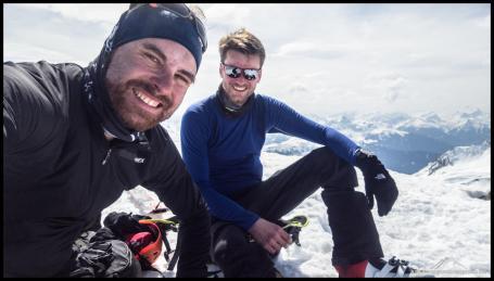 Gipfelfoto auf dem Mehlsack - so muss das sein!