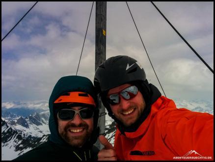 Flo und Dennis am Gipfel der Schneeglocke