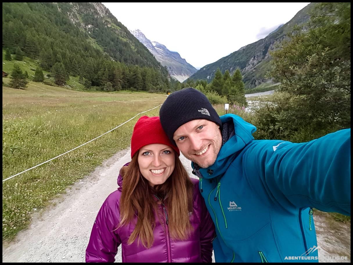 Elena und Dennis im Val D'Anniviers