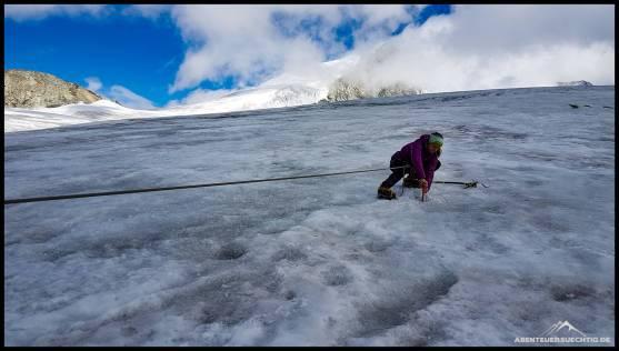 Der erste Gletscherkontakt