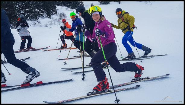 Go down or go home beim Telemark Skifahren