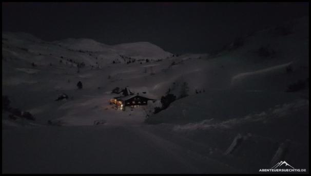 Die Gjaidalm - herrlich gelegen inmitten einer traumhaften Winterlandschaft
