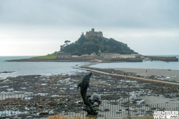 St. Michaels Mount vor der Küste Cornwalls