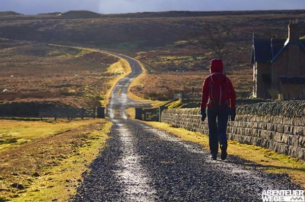 Wechselhaftes Wetter beim Wandern auf den Britischen Inseln