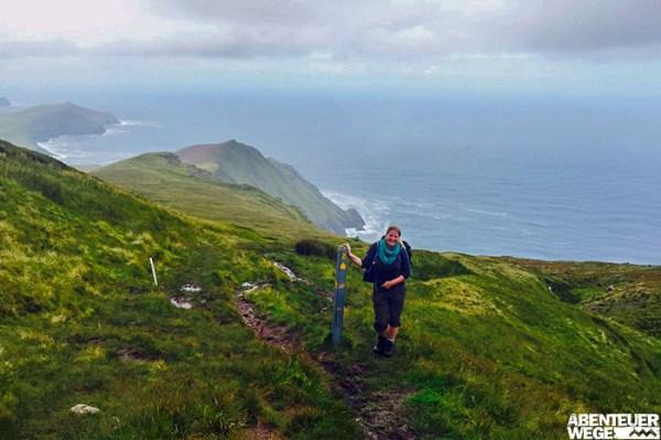 Maike auf dem Dingle Way an Irlands Westküste