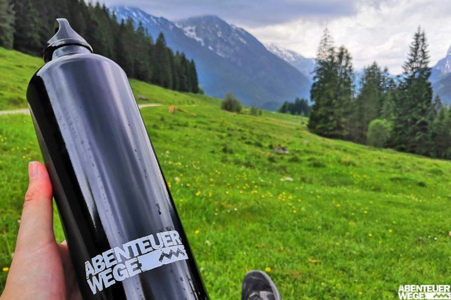 Aussicht von der Mordaualm auf das Biosphärenreservat Berchtesgadener Land.