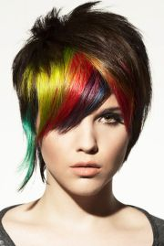 rainbow punk hairstyle hair poster