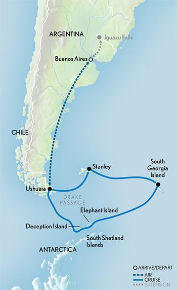 Antarctica South Georgia  the Falkland Islands  AK