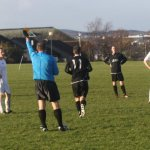The referee had to issue a number of yellow cards throughout the hard fought match