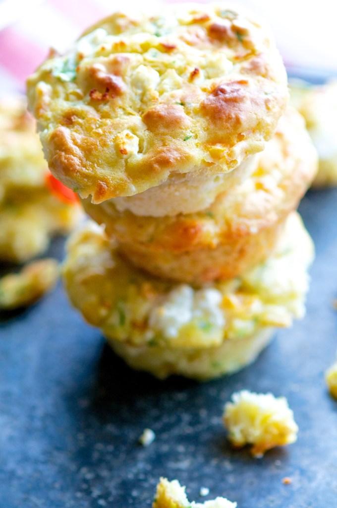 Savory Cheese and Veggie Muffins