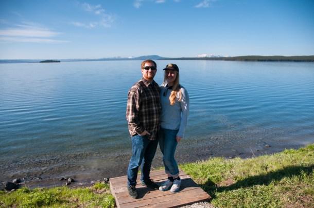 Dan and I at Yellowstone Lake