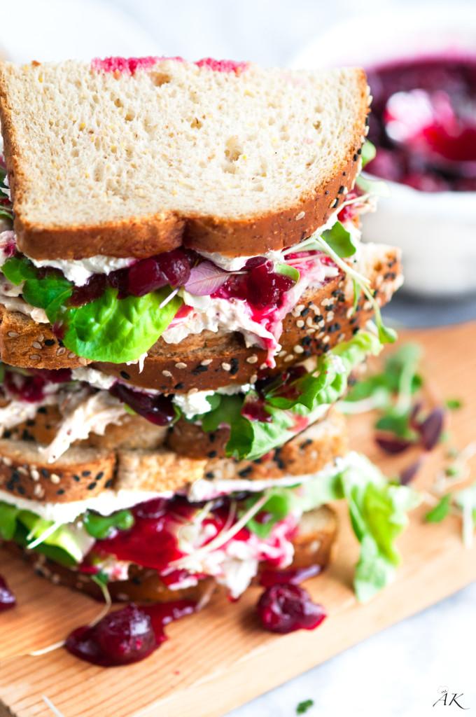 Cranberry Cream Cheese Turkey Salad Sandwich  Aberdeens