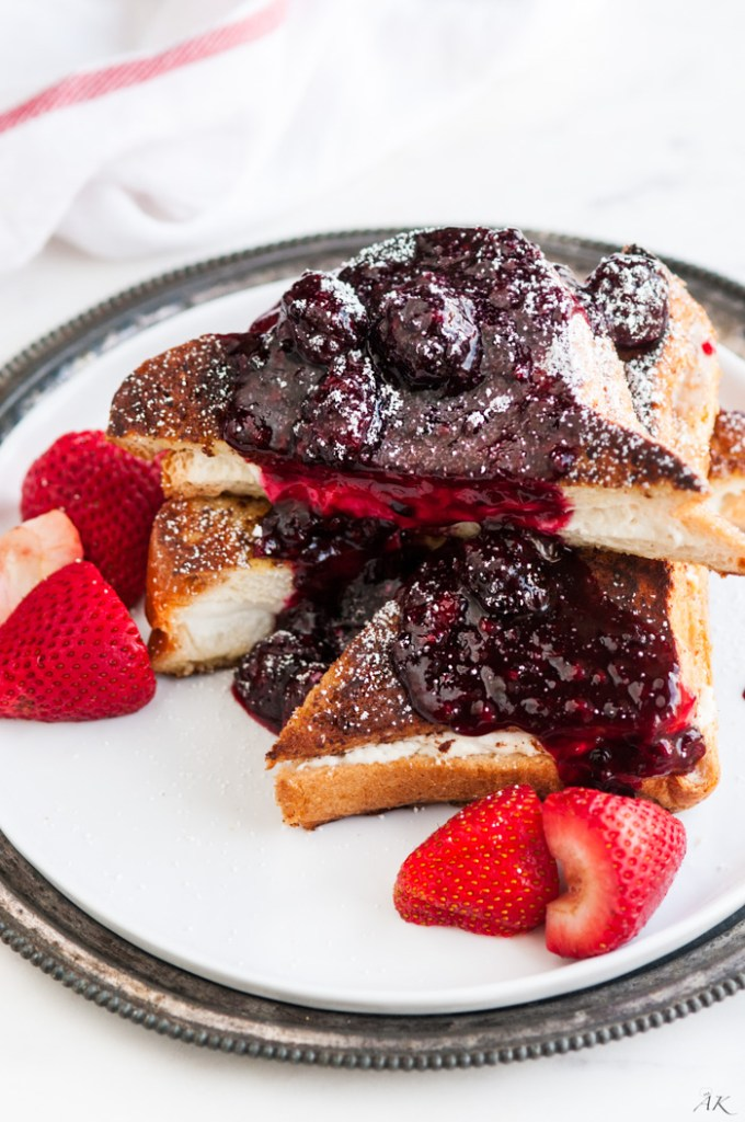 Stuffed Berry Compote French Toast