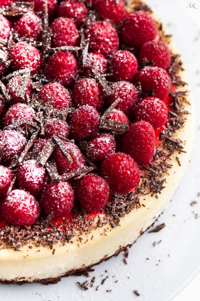 Dark Chocolate Raspberry Cheesecake | aberdeenskitchen.com