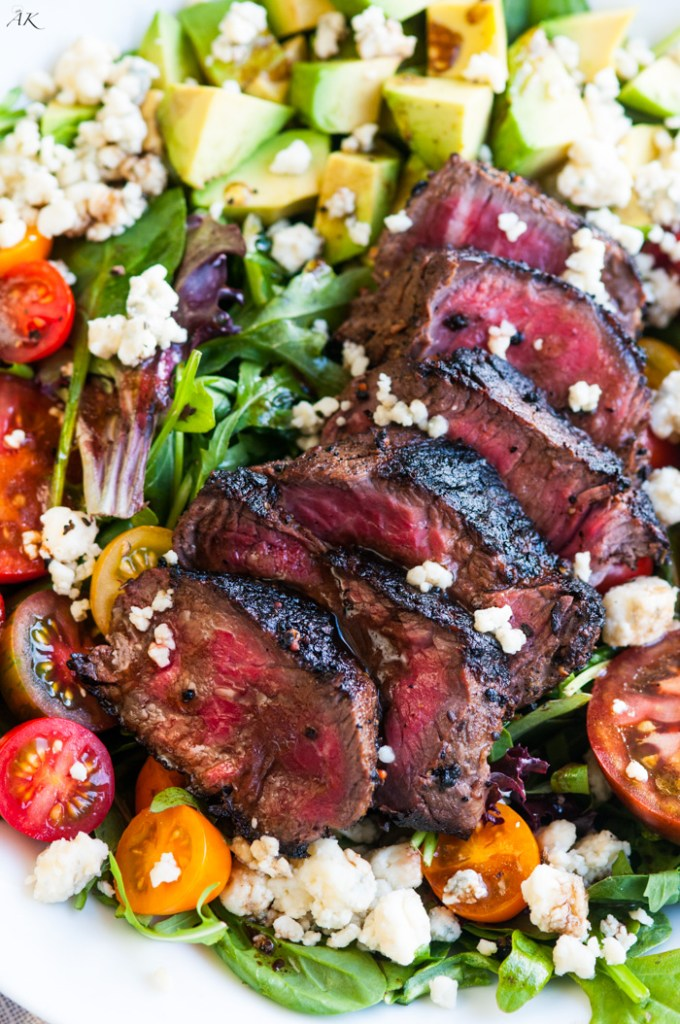 Steak Blue Cheese Avocado Salad | aberdeenskitchen.com