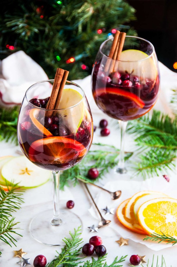 Red Wine Christmas Sangria | aberdeenskitchen.com