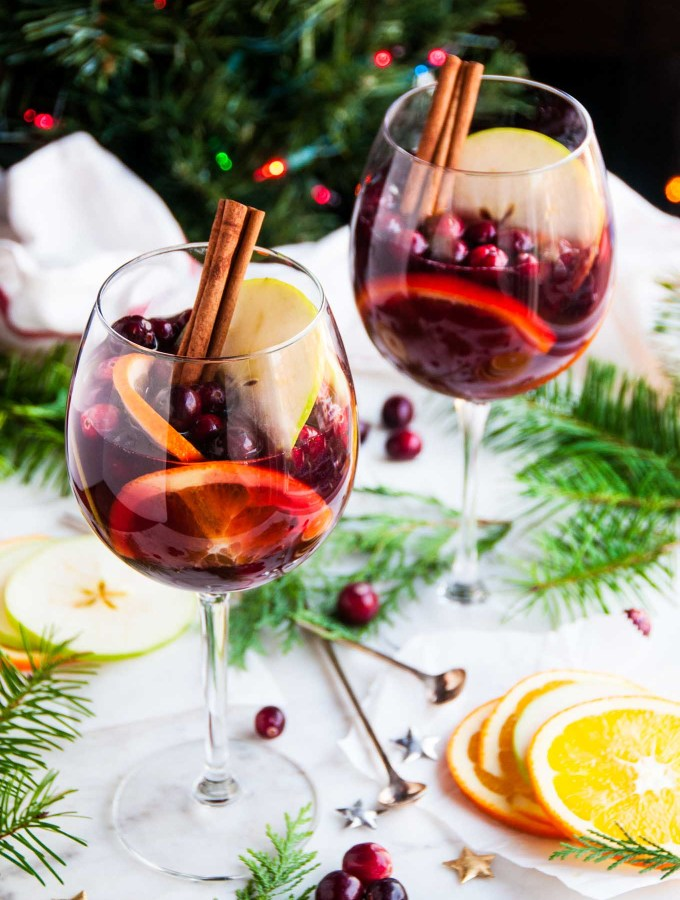 Red Wine Christmas Sangria