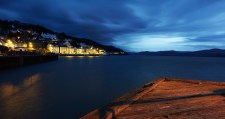 Aberdovey at night from the pier