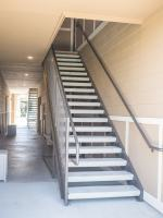 Metal Exterior Apartment Stair Installation   Fire Escape ...