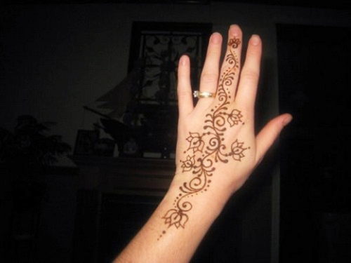 Beginner Simple Arabic Mehndi Designs For Left Hand