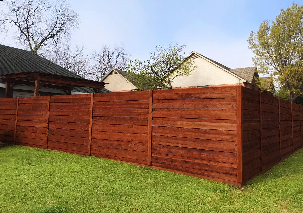 horizontal wood fences a