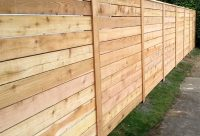 Horizontal Wood Fences | A Better Fence Company ...