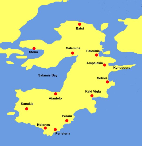 Salamina map Greece