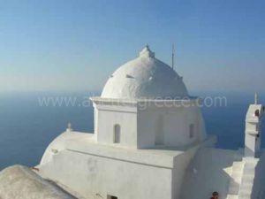 monasteries on Anafi island, Cyclades, Greece