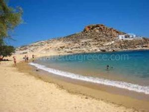Ayios Sostis beach on Mykonos, Greece