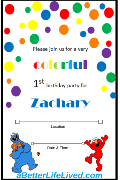 Such a great, simple idea! Homemade first birthday invitations using clip art!