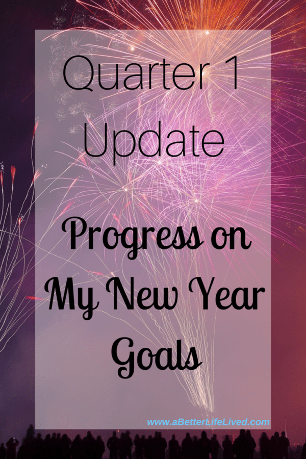 My quarter 1 progress update on my New Year goals! See where I've nailed it, and where I failed it!