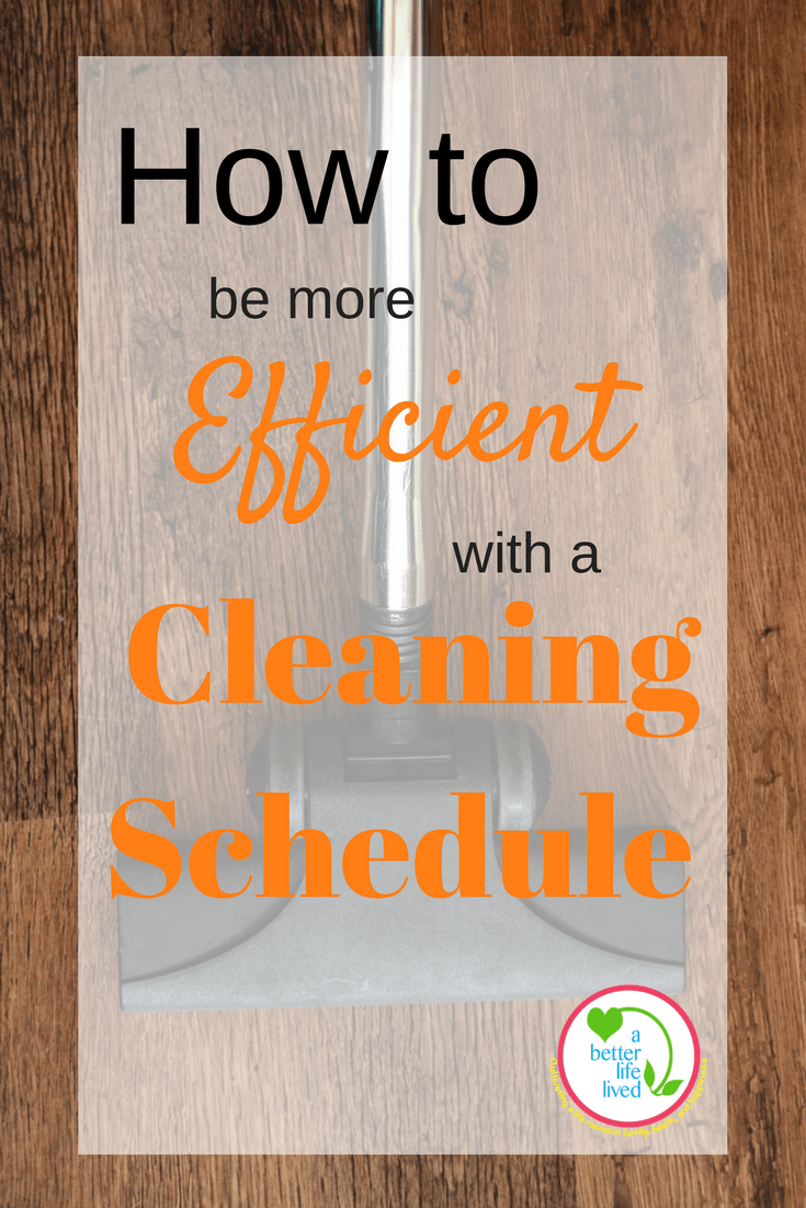Simple but effective solution to overcoming the overwhelm by creating a cleaning schedule!
