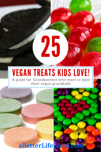 Vegans treats don't have to be complicated or hard to find! Great guide for grandparents that want to spoil their vegan grandkids but don't know how!
