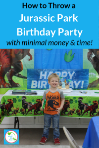 Do you have a little one that loves Jurrasic Park or dinosaurs? Here's how to throw an awesome Jurassic Park birthday party with little time and money!