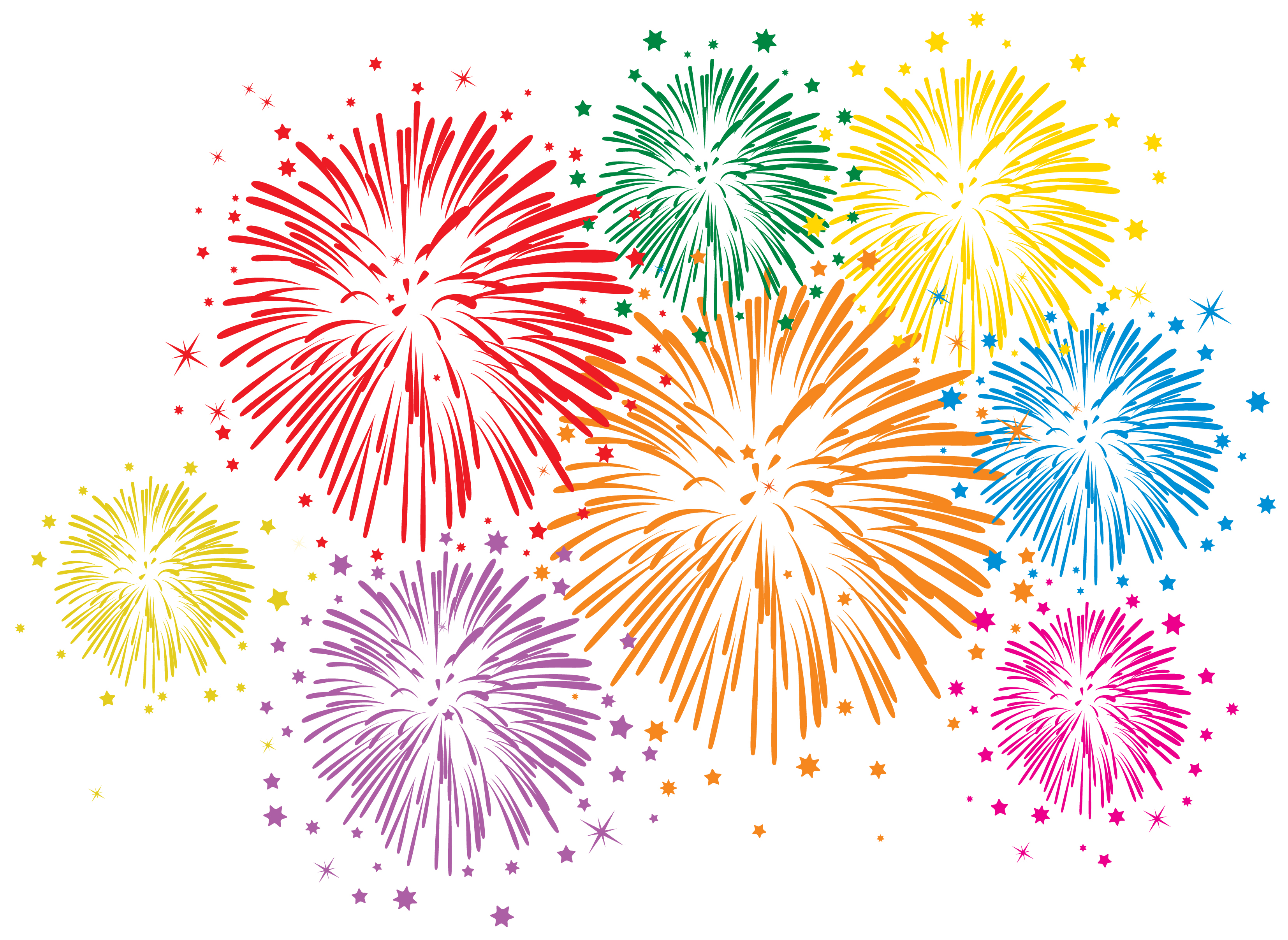 Vector Colorful Fireworks On White Background on Risk Management Insurance