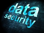 Security concept: data security on digital background
